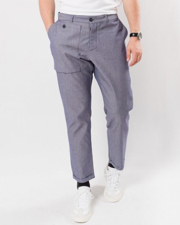 corelate pantalone-GRIS/BLEU
