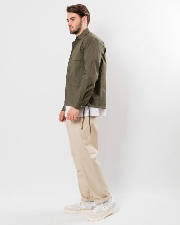 coltesse zip shirt cycas-KAKI