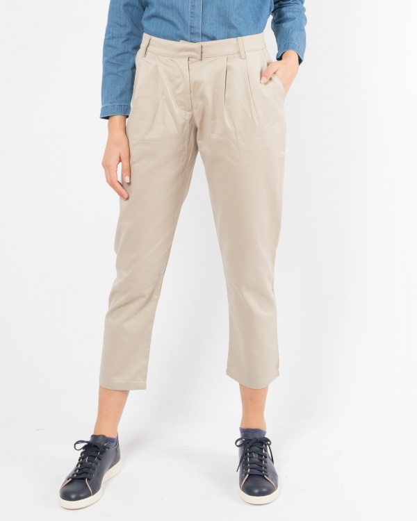 Twill Pant Cropped