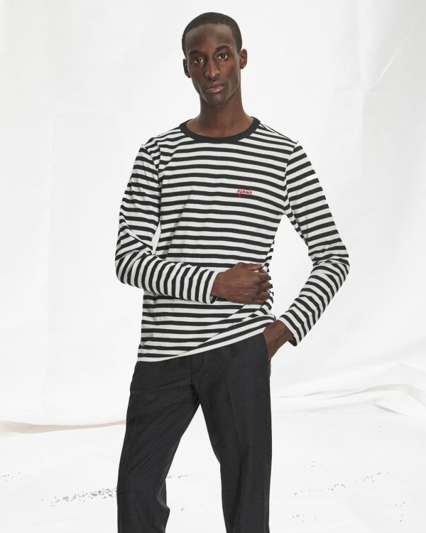 Striped Tee Shirt Ls Egoiste