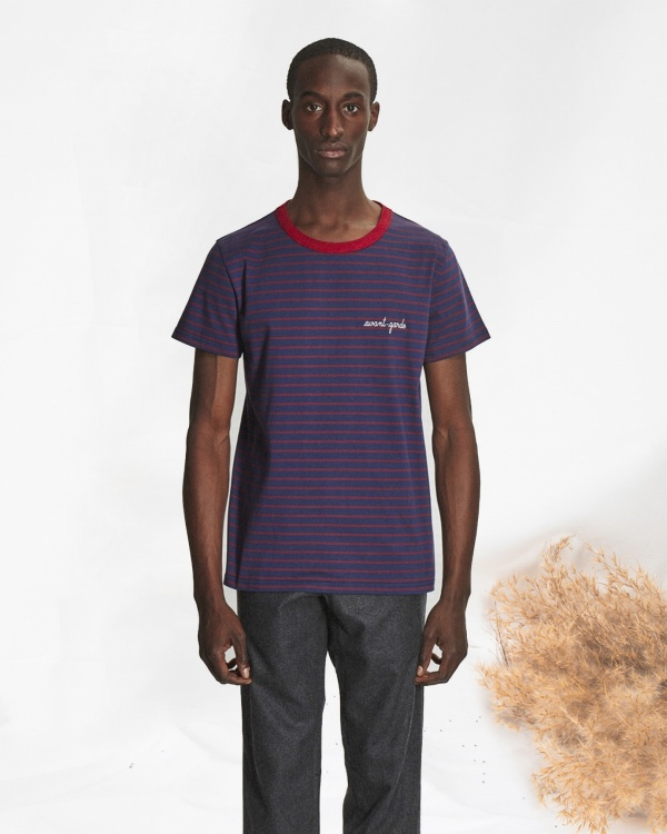 Striped Tee Shirt Ss Avant Gar
