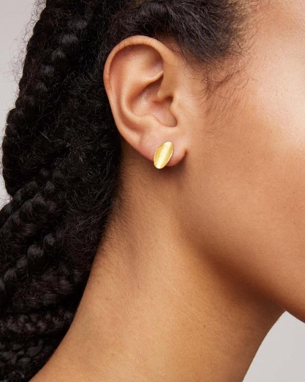 Curled Leaf Stud Earrings
