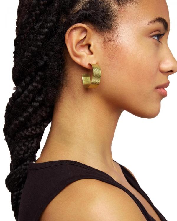 Wide Hoop Earrings