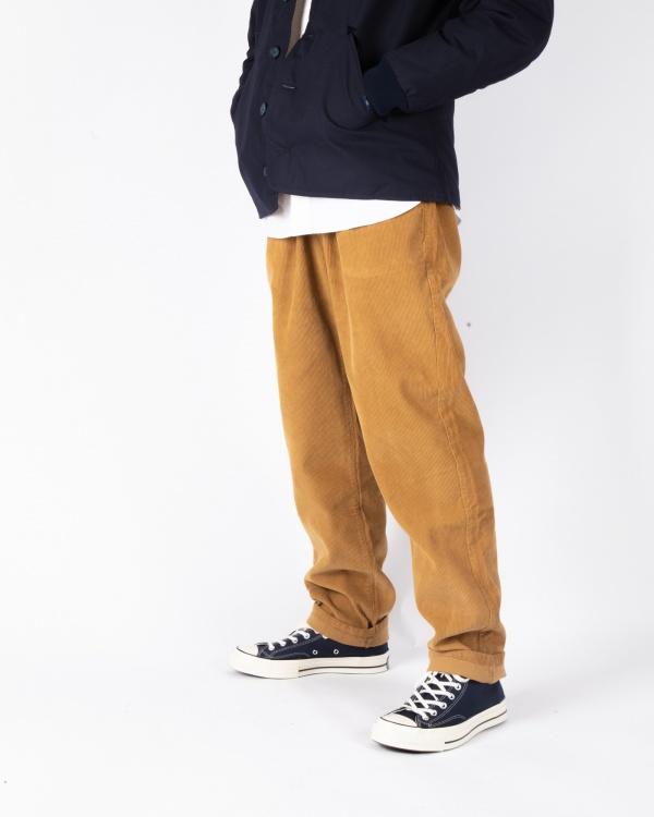 Pleats Cord Pantalon