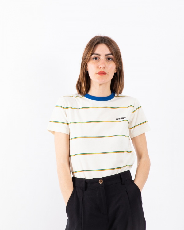 Striped Tee-shirt Ss Amour