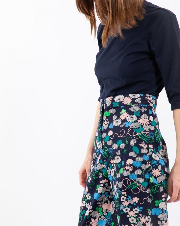 V&a Kimono Floral Print Trouse
