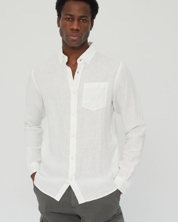Linen Shirt Man