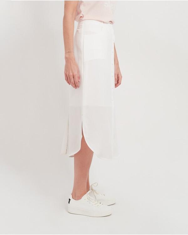 Mia Button Skirt