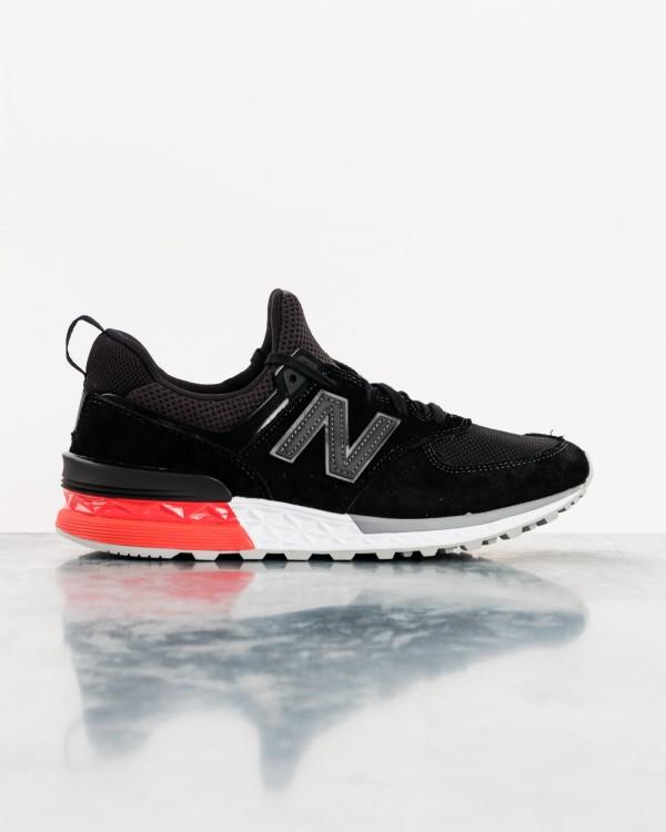 new balance 574s sport-NOIR