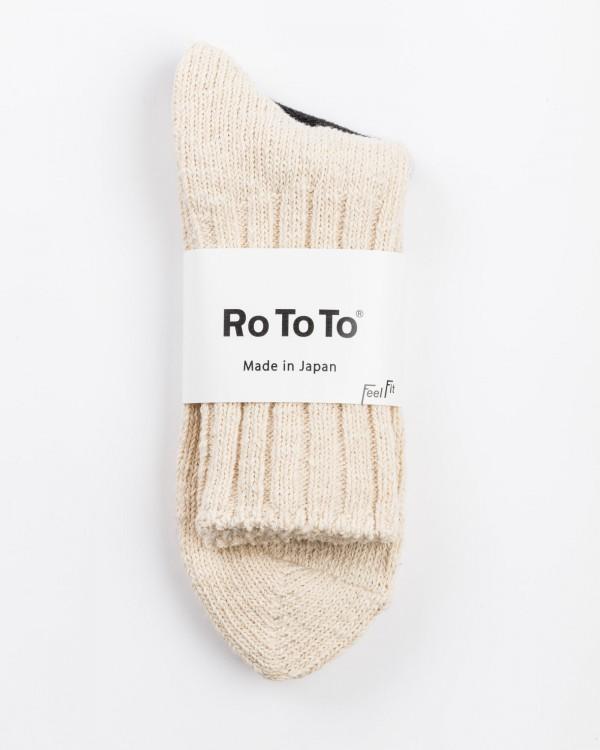 rototo low gauge slub socks