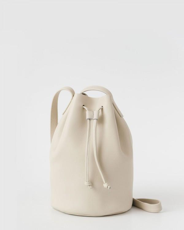 baggu drawstring purse-BEIGE