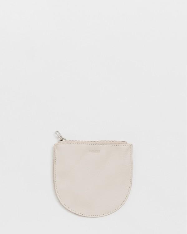 baggu small u pouch-BEIGE