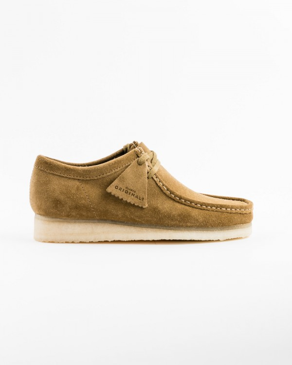 clarks wallabee-OLIVE